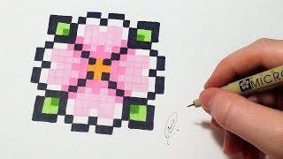Pixel art Fleur (FACILE)