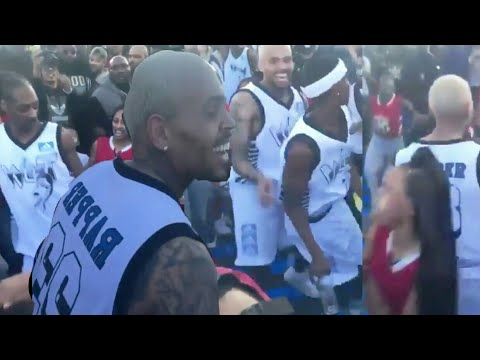 Chris Brown & Snoop Dog Dancing Like CRAZY At All Star NBA Game 2018 (видео)