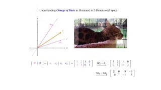 This video aims to illustrate what it is to change the basis (or group of linearly independent vectors which span the space) for a given vector residing in t...