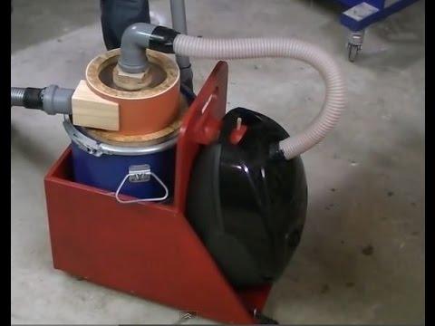 Zyklon- Staubsauger bauen   Fliehkraftabscheider   Absauganlage   Späneabsaugung DIY