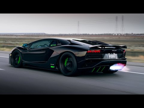 Flame Spitting Aventador S with iPE Titanium exhaust system from Woyshnis Media