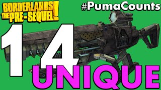 Top 14 Best Unique Guns and Weapons in Borderlands: The Pre-Sequel! #PumaCounts