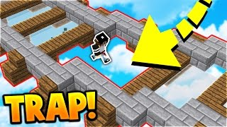 INVISIBLE GLASS TRAP! | Minecraft SKYWARS TROLLING