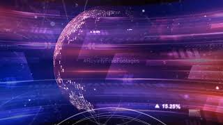 TV news intro template background video | hi tech video background loops