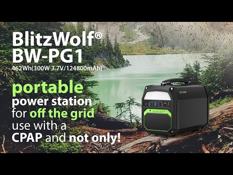 BlitzWolf BW-PG1 portable power station for CPAP and emergency energy supply from Banggood