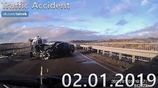 Подборка аварий и дорожных происшествий за 02.01.2019 (ДТП, Аварии, ЧП, Traffic Accident)