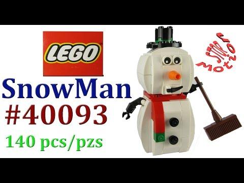 Vidéo LEGO Saisonnier 40093 : Le bonhomme de neige