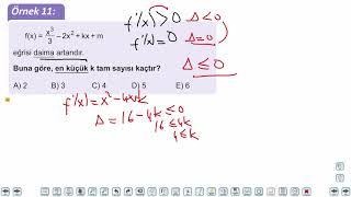 Eğitim Vadisi AYT Matematik 19.Föy Türev 1 Konu Anlatım Videoları