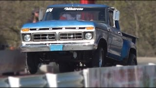 Fords Version of The Farm Truck Drag Racing. #FordTrucks, #DragRacing