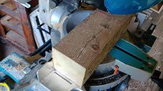 Speedcutting a 4x4 with the mitre saw