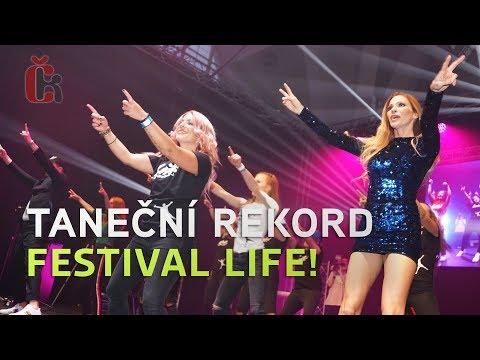 Andrea Verešová, Ondřej Sokol a Roman Šebrle tancují na festivalu Life!