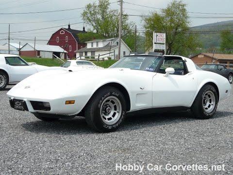 1978 White Corvette L82 4spd T Top For Sale Video