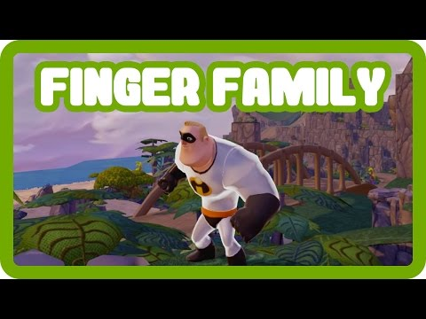 Mr Incredible Driving Around Neverland From Peter Pan - Daddy Finger Family Children's Nursery Rhyme