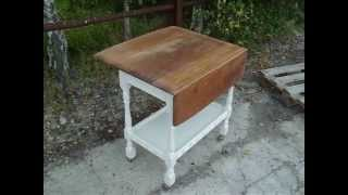 A Funky Retro Painted Shabby Chic Trolley In Farrow And Ball