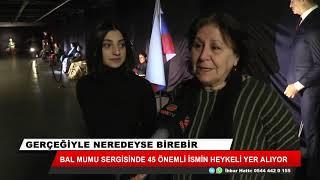 Konya'da bal mumu heykel sergisi!