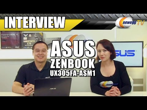 "ASUS  Zenbook  UX305FA-ASM1 13.3"" Ultrabook Interview - Newegg TV"