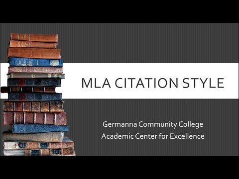 MLA 8th Edition Style