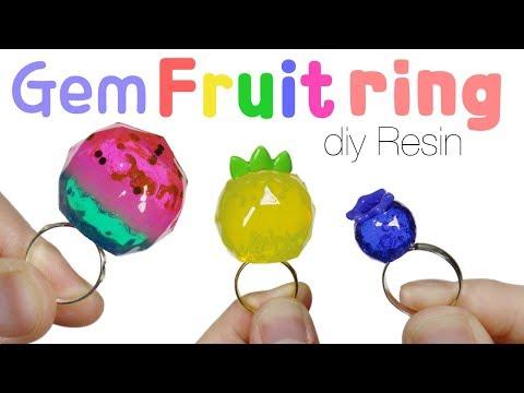 How to DIY Gemstone Fruit Rings UV Resin Tutorial