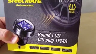 Car Steelmate TPMS Tire Pressure Monitor System Unboxing / Review