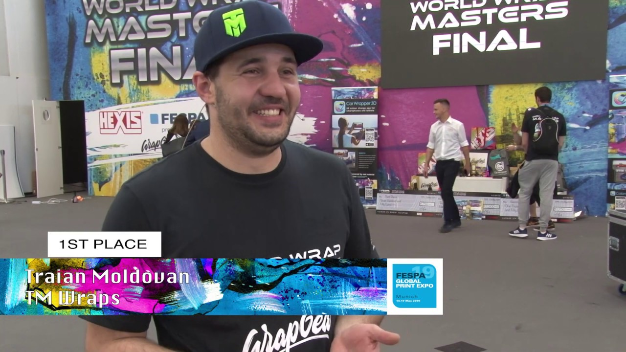 <p>Traian Moldovan from TM Wraps is crowned the World Wrap Masters 2019 Champion at the World Wrap Masters Finals 2019 in Munich Germany. Traian shares his thoughts with FESPA after his win.</p>
