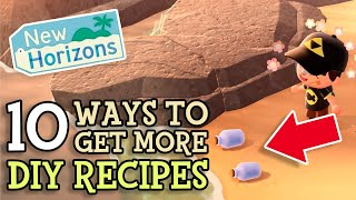 Animal Crossing New Horizons 10 Ways To Get MORE DIY RECIPES in ACNH (Get 2 Message Bottles Per Day)