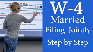 How to fill out W4 Married filing Jointly W-4.  W4 Employee's Withholding Certificate