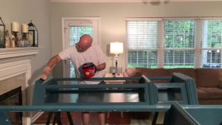 How to apply a second coat of paint on wood furniture