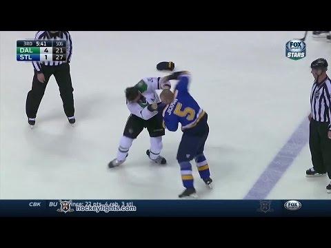 Barret Jackman vs. Antoine Roussel