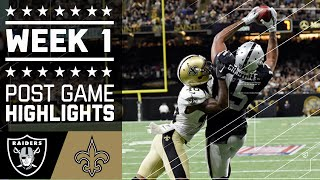 Raiders vs. Saints | NFL Week 1 Game Highlights