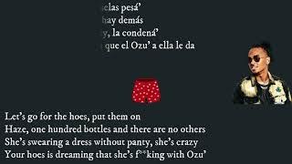 Jhay Cortez, Ozuna   Easy (Remix) ( Letra  Lyrics  English Translation))