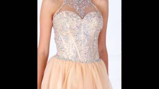 Short High Neck Fit And Flare Dress By Hebeos | 2017 Homecoming | Prom 2k17