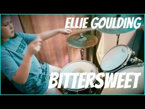 ELLIE GOULDING - BITTERSWEET - MILANA, 10 year old girl drummer, drum cover