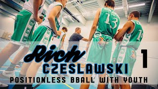 RICH CZESLAWSKI - Training Positionless Basketball With Youth Players - Clinic 2 (Part 1)