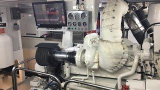 92' Allseas Expedition Trawler engine room
