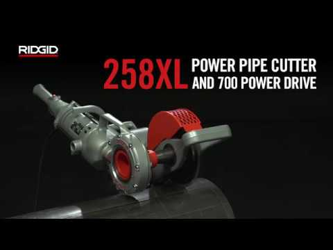 RIDGID 258XL Power Pipe Cutter and 700 Power Drive
