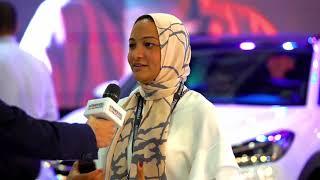 كوثر أبو الفتوح مديرة العلامة التجارية لهيونداى مصر تستعرض أحدث سيارات بمعرض أوتوماك فورميلا ٢٠١٨
