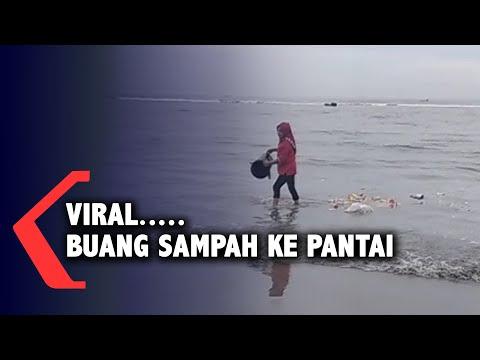 Viral.... Ibu-Ibu Buang Sampah ke Pantai