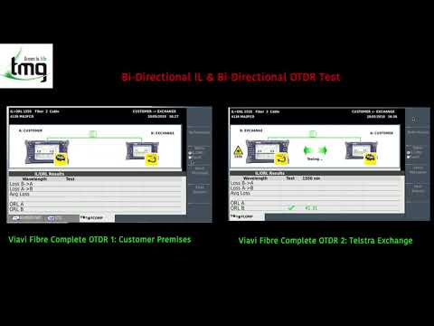 Bidirectional Testing using the VIAVI Fibre Complete OTDR