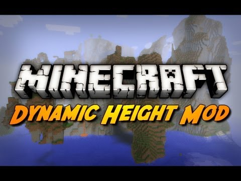 Minecraft Mod Review: DYNAMIC HEIGHT MOD! (2048 Block High Maps!)