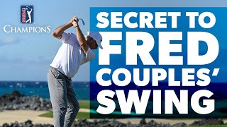 Fred Couples reveals the secret to his swing