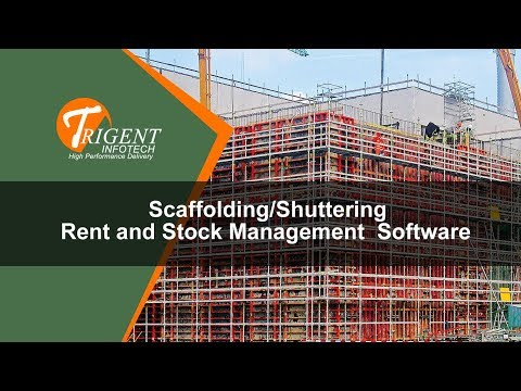 Scaffolding/Shuttering Rent and Inventory Management Software