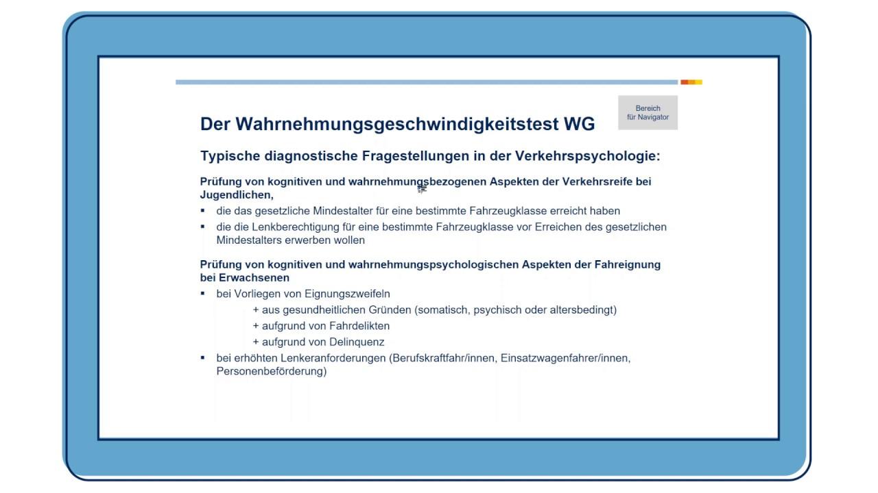 Wahrnehmungsgeschwindigkeitstest (WG)