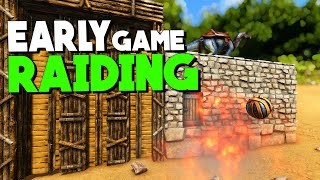 EARLY GAME RAIDING!   Solo New Official PvP Servers | ARK: Survival Evolved | Ep 4