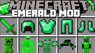 Minecraft EMERALD MOD / FIGHT OFF THE EMERALD ZOMBIE HOARDS WITH GOLEMS!! Minecraft