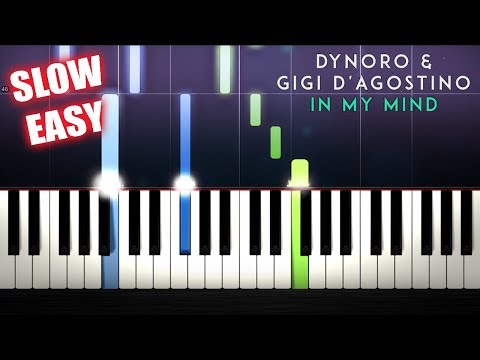 Dynoro, Gigi D'Agostino - In My Mind - SLOW EASY Piano Tutorial by PlutaX