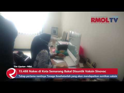15.488 Nakes di Kota Semarang Bakal Disuntik Vaksin Sinovac