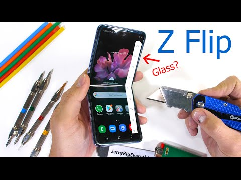 Samsung Z Flip kestävyys testi