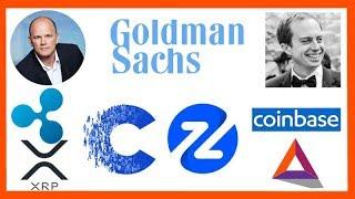 Novogratz Hires Goldman Sachs Banker - Erik Voorhees - Ripple Lobbying - XRP CRED - Coinbase BAT
