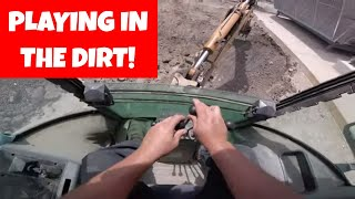 Digging with an old Case 580 four stick backhoe |  (how to) Heavy Equipment