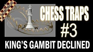 Chess Traps #3: King's Gambit Declined Trap